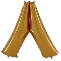 Фольгированная Буква Л золото (102 см)